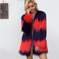 Lanshifei 2018 New Design China Manufacture Colourful Down Fur Rabbit Fur Jacket Manufacturers of Coats Winter Warm Overcoat