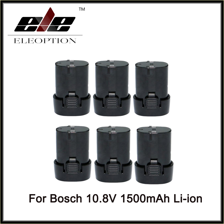6 PCS 10.8v 1500mAh Li-ion battery Replacement for Bosch 2 607 336 013, 2 607 336 014, BAT411, D-70745 GOP 10.8 V,PS20-2, PS40-2 5pcs lithium ion 3000mah replacement rechargeable power tool battery for bosch 36v 2 607 336 003 bat810 bat836 bat840 36 volt
