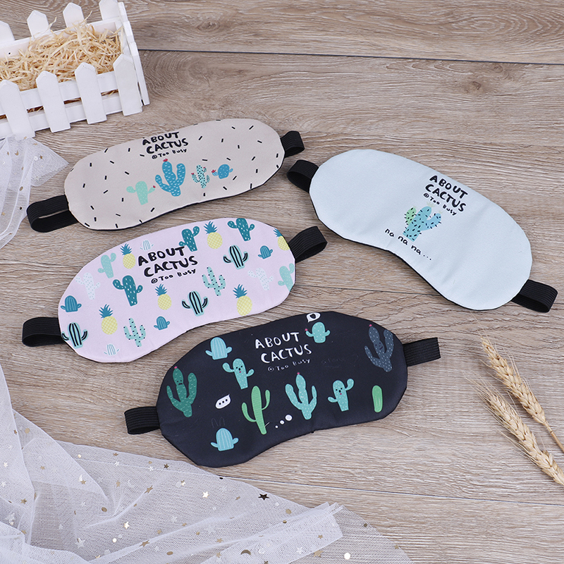 1pc Cute Sleeping Mask Soft Padded Sleep Shade Cover Comfort Rest Relax Blindfold Sleeping Aid Eye Patch