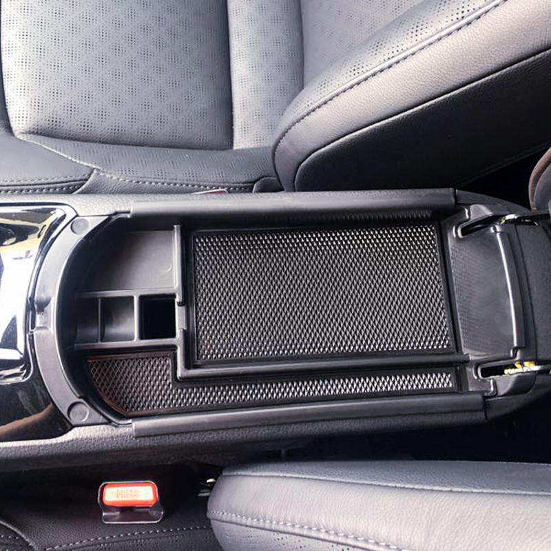 HIGH Flying Armrest Center Console Storage Glove Box Organizer for Toyota C-HR 2016-2018 with Black Mat