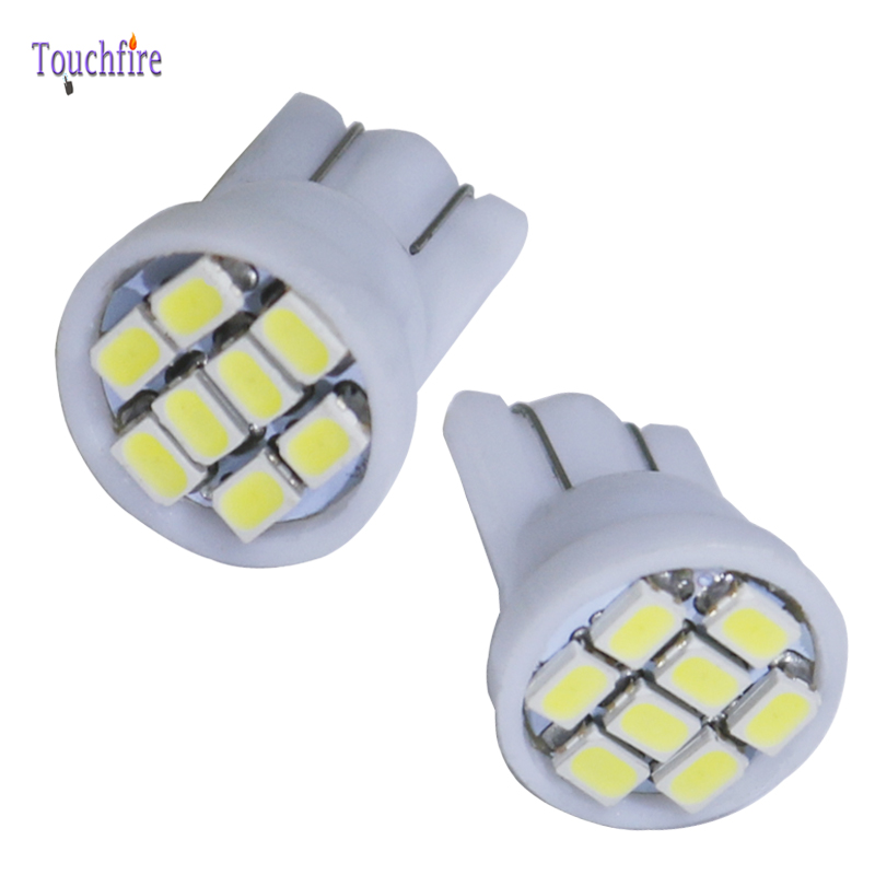 10pcs T10 Canbus Error Free W5W 8smd LED cob Dropshiping plate Car Lamp width DC 12v Auto Door Signal Parking Clearance light