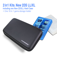 Game Accessories For New 2DSLL XL Eva Hard Case 16in1 Game Card Case 2in1 Kit For
