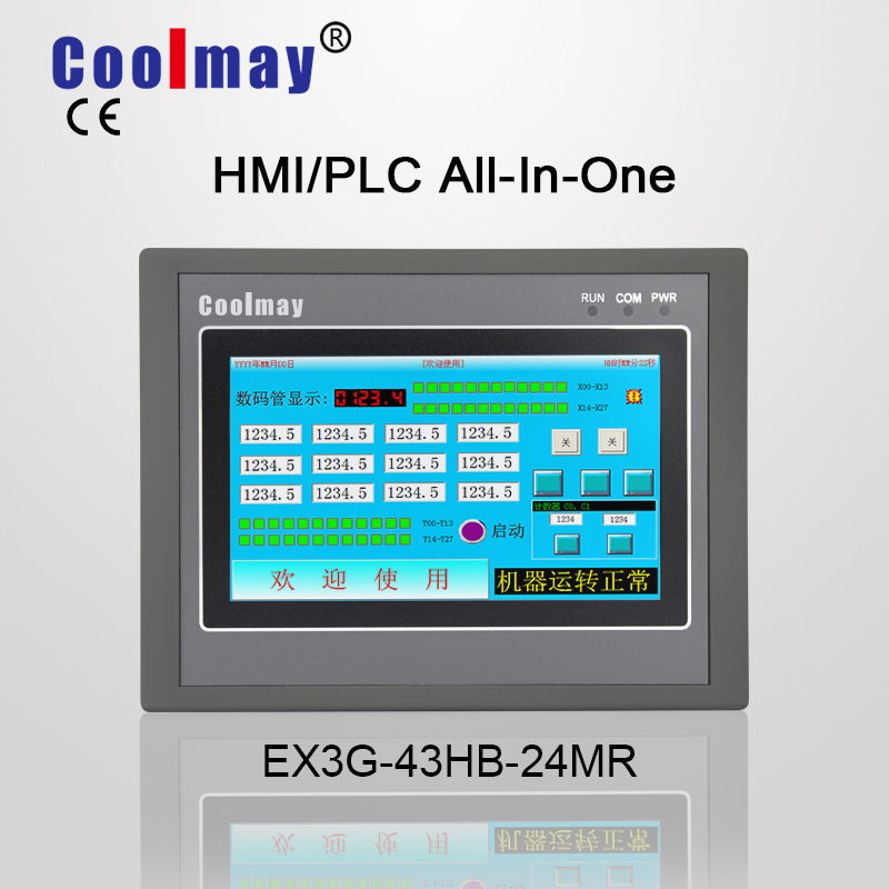 US $153 0 |Mitsubishi Software compatible 4 3 inch True Color touch panel  PLC all in one machine EX3G 43HB 24MR 485P -in Motor Controller from Home