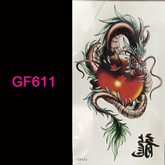 Us 079 Tongmenggf6113d Tatuaż Flash Tatuaże Kobiety Ramię Tymczasowy Tatuaż Dragon Ball Body Art Naklejki Sex Produkty Bod Tatuaż Tatuaż W