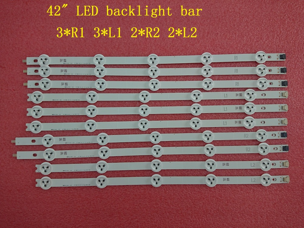 New 5set=50 Pcs R1 L1 R2 L2 Led Strip Perfect Replacement For Lc420due 42ln5400 6916l-1385a 6916l-1386a 6916l-1387a 6916l-1388a Punctual Timing Computer & Office