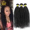 Перуанский Девственные Волосы Курчавые Вьющиеся 3 Шт./лот Натуральный Черный # 1B Ali queen Продукты Волосы Дешевые Человеческих Волос Weave Связки Перуанский 100 Г