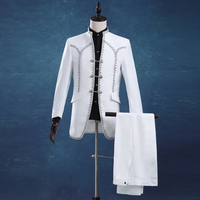 Male Groom Tuxedo Wedding Dress Royal Men S Male Clothing Suit Set White