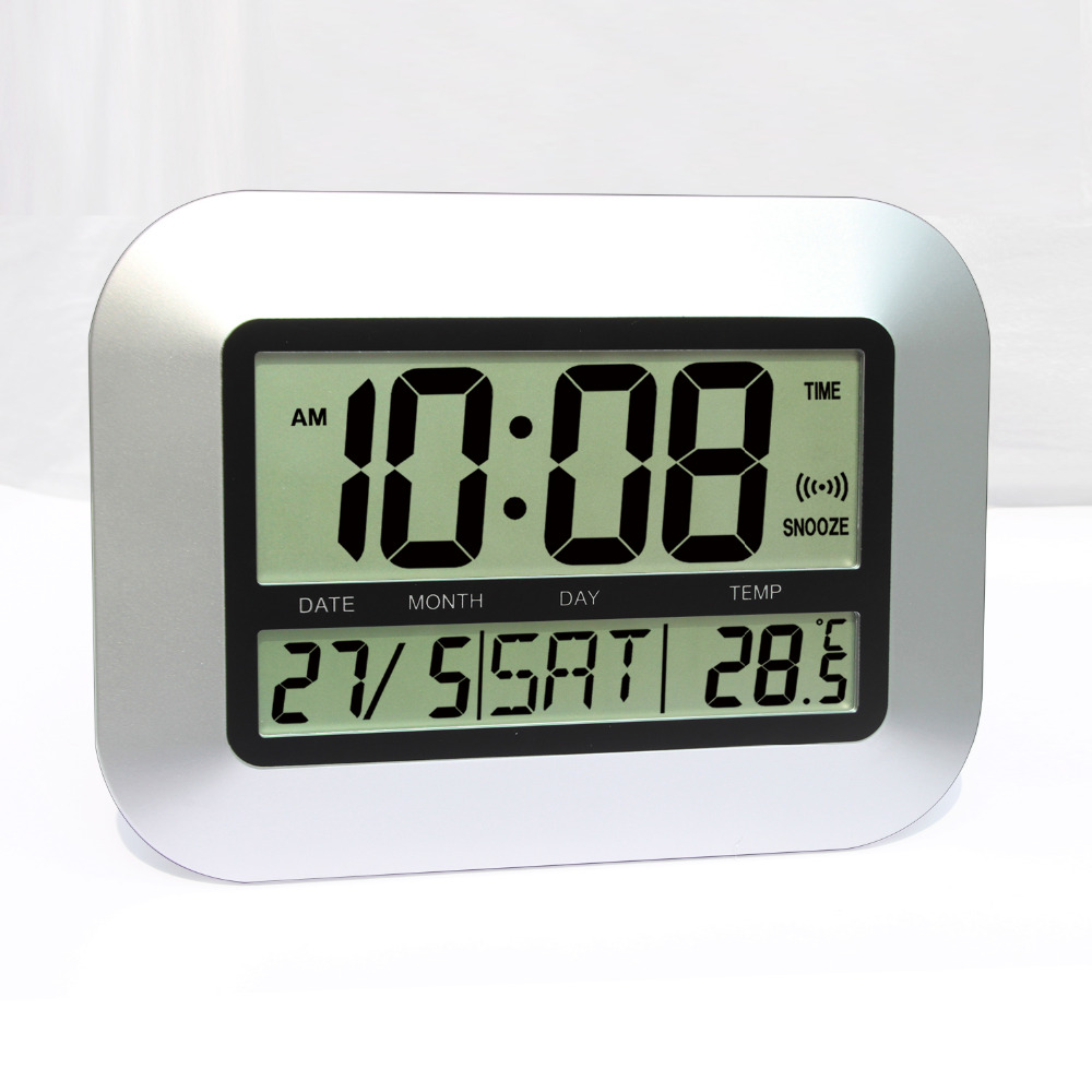 Digital lcd wall clock choice image home wall decoration ideas jimei h149 simple digital lcd wall clock table clock with alarm jimei h149 simple digital lcd amipublicfo Images