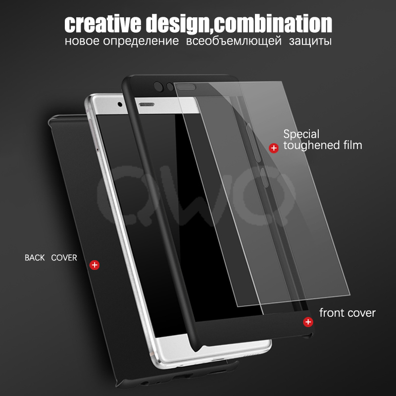 360 Degree Full Protection Phone Case For Huawei Mate 10 P10 Lite Protective Back Cover For Huawei Mate 10 Pro Shell With Glass in Fitted Cases from Cellphones Telecommunications