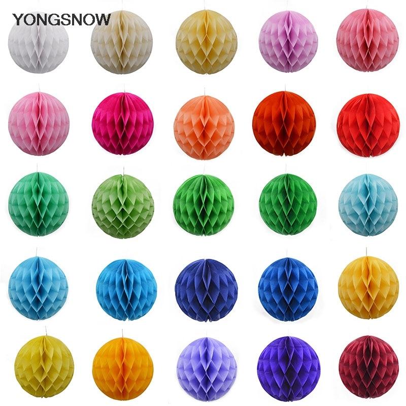 New 5pcs Tissue Paper Fan Diy Crafts Hanging Wedding: 5pcs/lot Tissue Paper Honeycomb Balls DIY Craft Paper