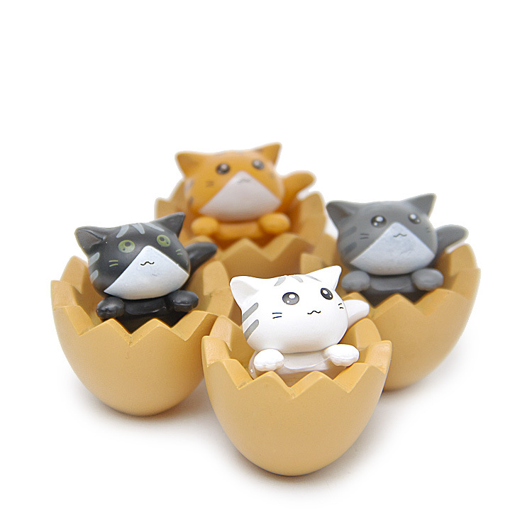4 pcs/lot Hot Super Cute Cat Shell Kitty Action Figures Toys girl Anime Christmas party supply for Children Kid Decor Figures