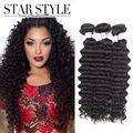 3pcs lot 7A Brazilian Virgin Hair Deep Wave Star Style hair products human hair extension weave unprocessed virgin hair