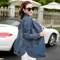 Alta Qualidade Outono Inverno Jaqueta Jeans mulheres do vintage Harajuku calça jeans jaquetas casaco feminino de manga comprida senhoras outerwear LX6188
