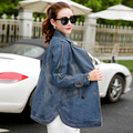 High Quality Autumn Winter Denim Jacket women vintage Harajuku jeans jackets female long sleeve coat ladies outerwear LX6188