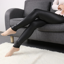Fashion Women Waist Black Faux Leather Stretch Skinny Pants Slim Leggings Sexy Cool Punk Leggings Ankle-Length