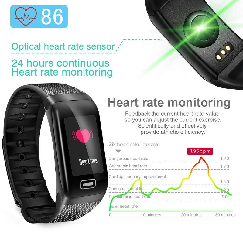 LIGE Smart Watch Sport Фитнес трекер сердечного ритма крови Давление IP67 смарт-браслет, шагомер IOS умный Браслет android браслет