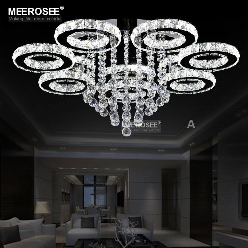 Nouvelle arrivée LED Lustre En Cristal Lumière Lustres de cristaux Lampe pour salon Diamant Cristal Lumière décoratifs pour La Maison Éclairage