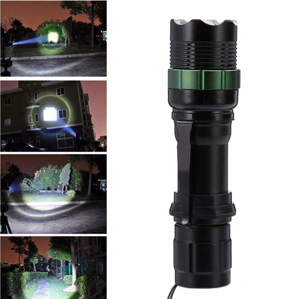 1500 Lumen Zoomable XM-L Q5 LED Flashlight Adjustable Aluminum Alloy Torch Zoom Super Bright Lamp Light Linternas For Household