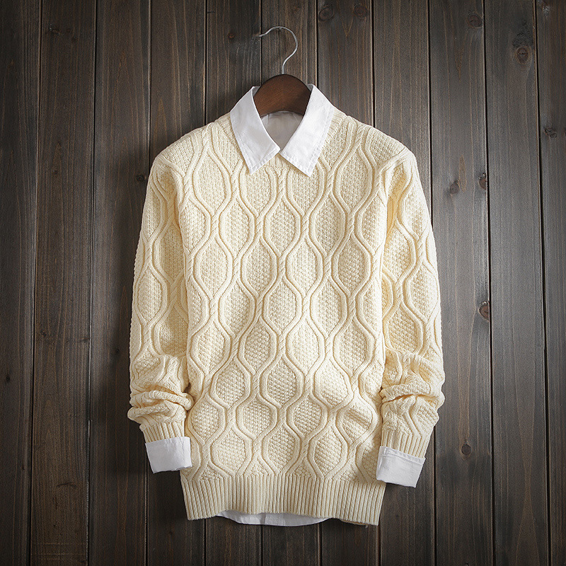 Men's Autumn Sweater knitted shirt Korean version skinny head men's sweater winter sweater men 2019