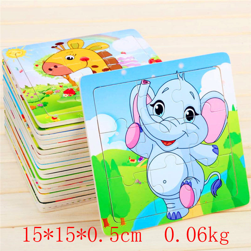 24 Style 3D Puzzles Jigsaw Wooden Toys For Children Cartoon Animal Traffic Puzzles Intelligence Children Early Educational Toys