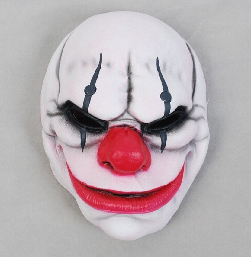 PAYDAY 2 Cosplay Mask Heist Wolf /Chains/Hoxton Masks Clown Face Helmet Halloween Horror Masks Carnival Masquerade Props