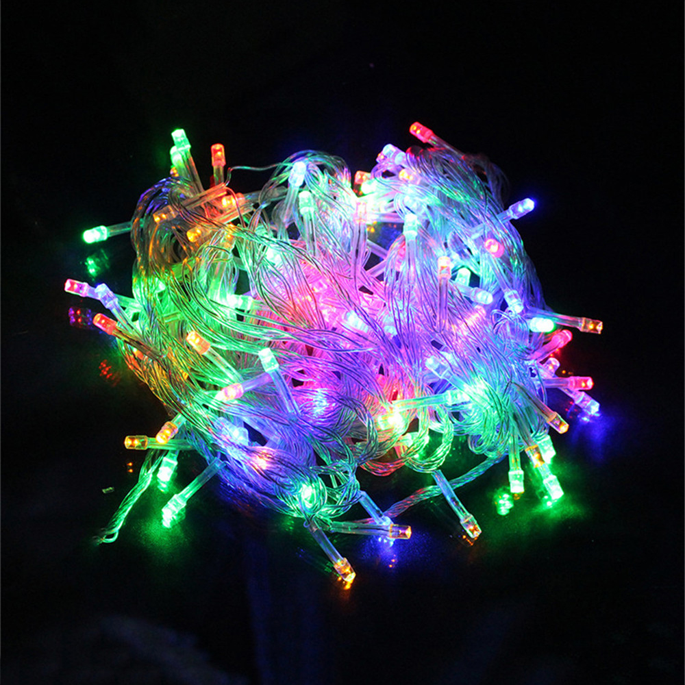 Garland LED String Fairy Light Decor Lamp Chrismas Holiday Decoration Waterproof Outdoor Light  AC 10M/20M/30M/50M/100M