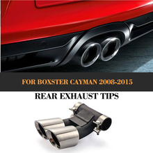 Car Exhaust escape tail Pipes mufflers for Porsche Boxster Cayman S Hatchback 2 Door 2009-2012 Stainless steel Sport Style