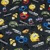140cm Width Dark Gray Background Sesame Street Cotton Fabric For Baby Boy Cloth Sewing Bedding Set