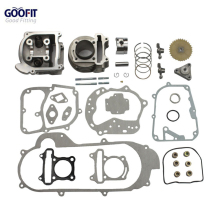 GOOFIT 100cc Big Bore Performance Kit Gy6 50cc 139qmb Chinese Racing Scooter Parts 50mm Bore Group-11 goofit motorcycles big bore 50mm cylinder rebuild kit gy6 50cc 139qmb racing scooter parts 64mm valve group 11