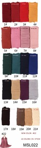 Image 5 - 1 pc plain pleat bubble chiffon wrinkle scarf long stripe shawls hijab crumple pashmian muslim scarves/scarf