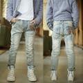 Детская одежда 2016 Весной и Осенью средних и больших ребенок мужского пола джинсы, узкие брюки светлого цвета джинсы