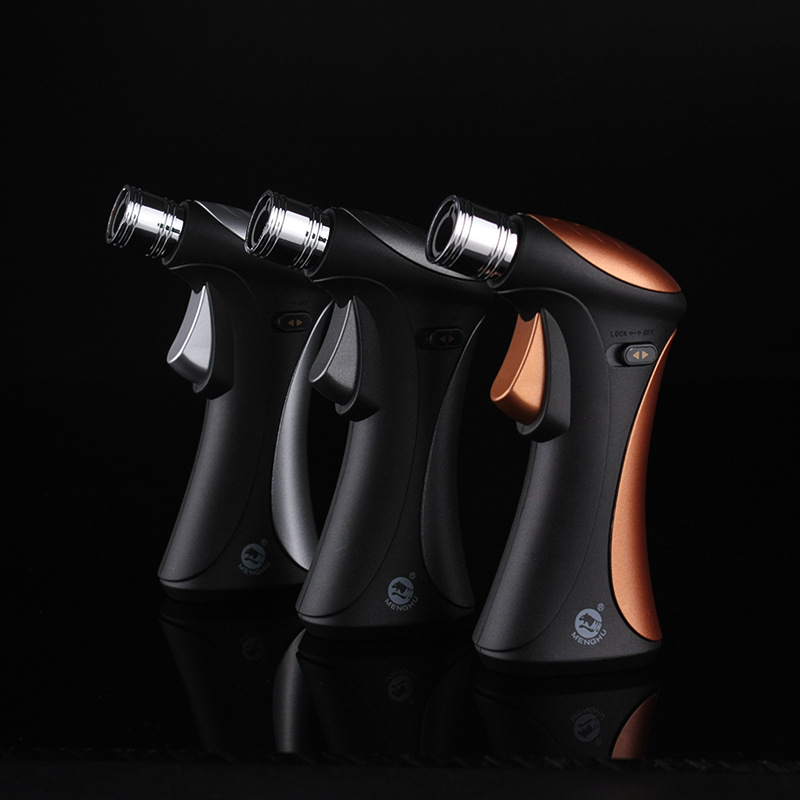 Portable Spray Gun Lighter Jet Torch Turbo Gas Lighter Cigar Pipe Lighter Butane Light Cigarette 1300 C Fire Windproof in Matches from Home Garden