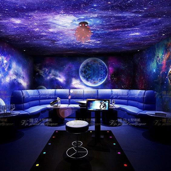Black Light Wallpaper For Bedroom: Free Shipping Cosmic Ceiling Living Room Sofa Background