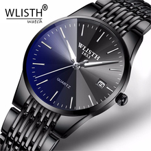 WLISTH Top Brand Luxury Mens Watches Waterproof Business Watches Man Quartz Ultra-thin Wrist Watch Male Clock Relogio Masculino dropshipping wlisth sport watches mens watches top brand luxury military army quartz watch male clock casual relogio masculino