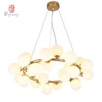 אמנות דקורטיבי LED G4 מנורת תליית אורות תליון בועת זהב לובי מלון טרקלין מסעדת מבואת לופט מודרני אור האופנה