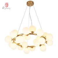 Art Decorative LED Bubble Pendant Lamp Hanging Lights Golden G4 Hotel Restaurant Lounge Loft Foyer Lobby Modern Fashion Lights