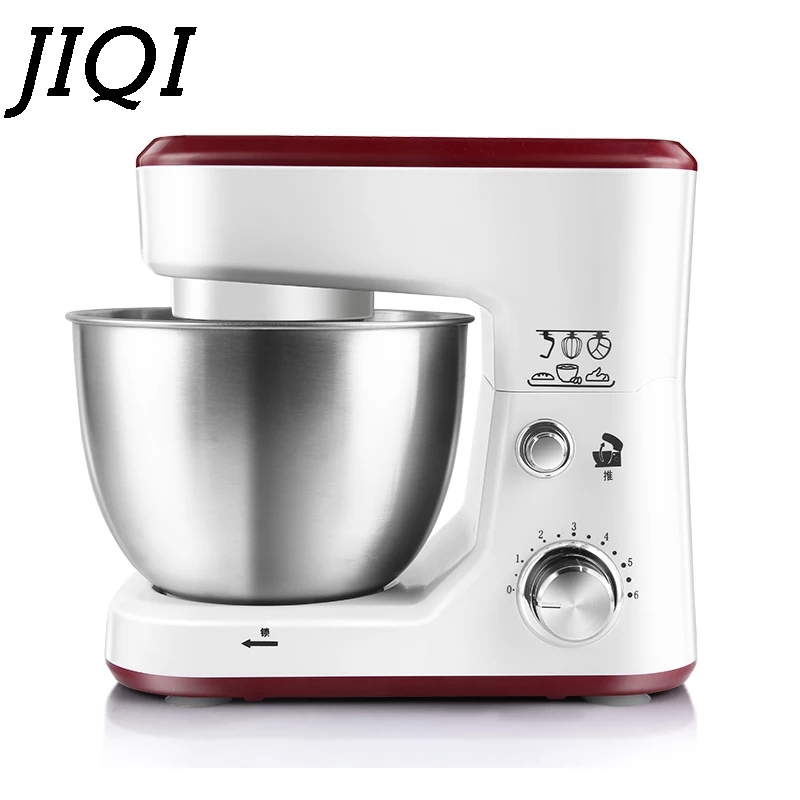JIQI Electric Food Stand Mixer Whisk Cream Egg Blender 4L Kitchen Milkshake/Cake Bread Kneading Chef Cooking Machine Dough Maker