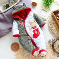 Free Shipping Retail New Year Autumn Winter Rompers Baby Clothes Newborn Baby Christmas Cotton Romper Baby