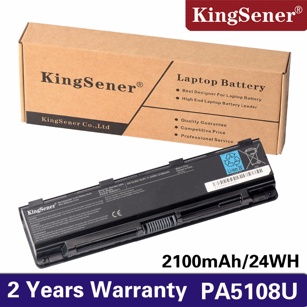 KingSener PA5108U-1BRS Laptop Battery for Toshiba Satellite C50 C50D C40 C55 C55D C840 C805 PA5109U-1BRS PA5110U-1BRS PA5108U laptop battery for toshiba satellite c50t c55 c70 c75d pa5108u 1brs pa5109u 1brs pa5110u 1brs pabas271 pabas272