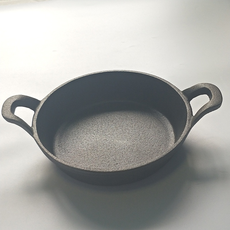 Cast Iron Non-Stick Double Handle Frying Pan 2