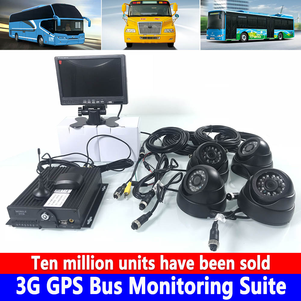 School Bus track Monitoring and positioning 3G GPS Bus Monitoring Suite supports AHD 4CH remote video real-time online viewingSchool Bus track Monitoring and positioning 3G GPS Bus Monitoring Suite supports AHD 4CH remote video real-time online viewing