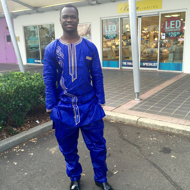 2016 Африканский Человек Мода Дизайн Базен Riche Вышивка Печати 100% Хлопок Материал Плюс Размер PH2