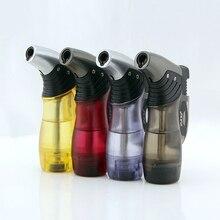 Encendedor de butano compacto, linterna Turbo, pistola de fuego a prueba de viento, encendedor de Metal 1300 C, accesorios para cigarrillos sin GAS