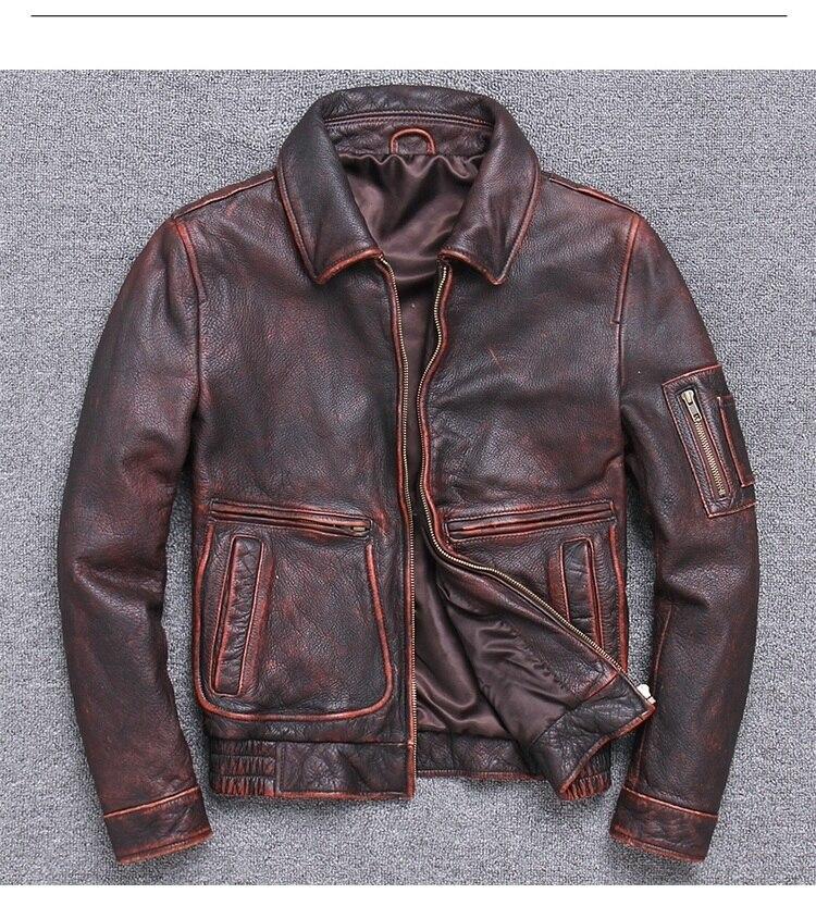 Frete grátis. clássicos Da Marca de vendas A2 casaco, Jaquetas de couro dos homens, dos homens jaqueta De Couro genuíno. homem casaco marrom do vintage plus size