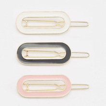 H36-001 12pc/lot Free Shipping new model hair accessories oval shaped retro enamel gold hair pins hair clip