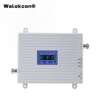 4g الداعم GSM WCDMA LTE UMTS 2g 3g 4g الهاتف المحمول إشارة الداعم 70dB 900 1800 2100 ثلاثي الفرقة مكبر صوت أحادي مكرر وحدة