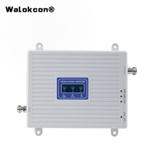 4g Booster GSM WCDMA LTE UMTS 2g 3g 4g Mobile Phone Signal Booster 70dB 900 1800 2100 Tri Band Signal Amplifier Repeater Unit