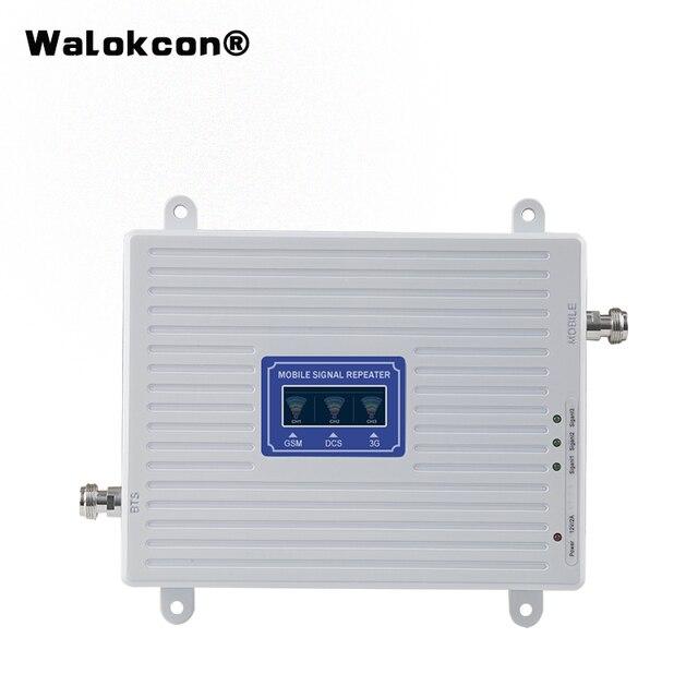4g 부스터 GSM WCDMA LTE UMTS 2g 3g 4g 휴대 전화 신호 부스터 70dB 900 1800 2100 트라이 밴드 신호 증폭기 리피터 유닛