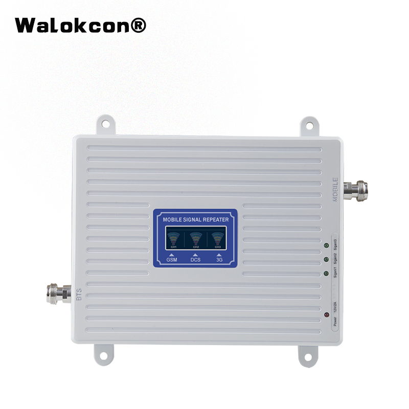 Hot Sale GSM WCDMA LTE UMTS 2g 3g 4g Mobile Phone Signal Booster 70dB 900 1800 2100 Tri Band Signal Repeater Unit
