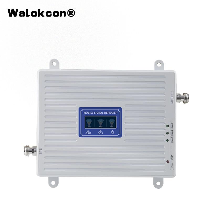 Venta caliente GSM WCDMA LTE UMTS 2g 3g 4g teléfono móvil amplificador de señal 70dB 900 de 1800 a 2100 unidad repetidora de señal tribanda-in Amplificadores de señal from Teléfonos celulares y telecomunicaciones on AliExpress - 11.11_Double 11_Singles' Day 1